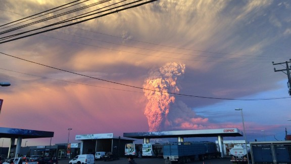 Chilean officials say the eruption was preceded by a rise in seismic activity about an hour before, which sent a gray column of ash more than 9 miles (15 kilometers) into the sky.