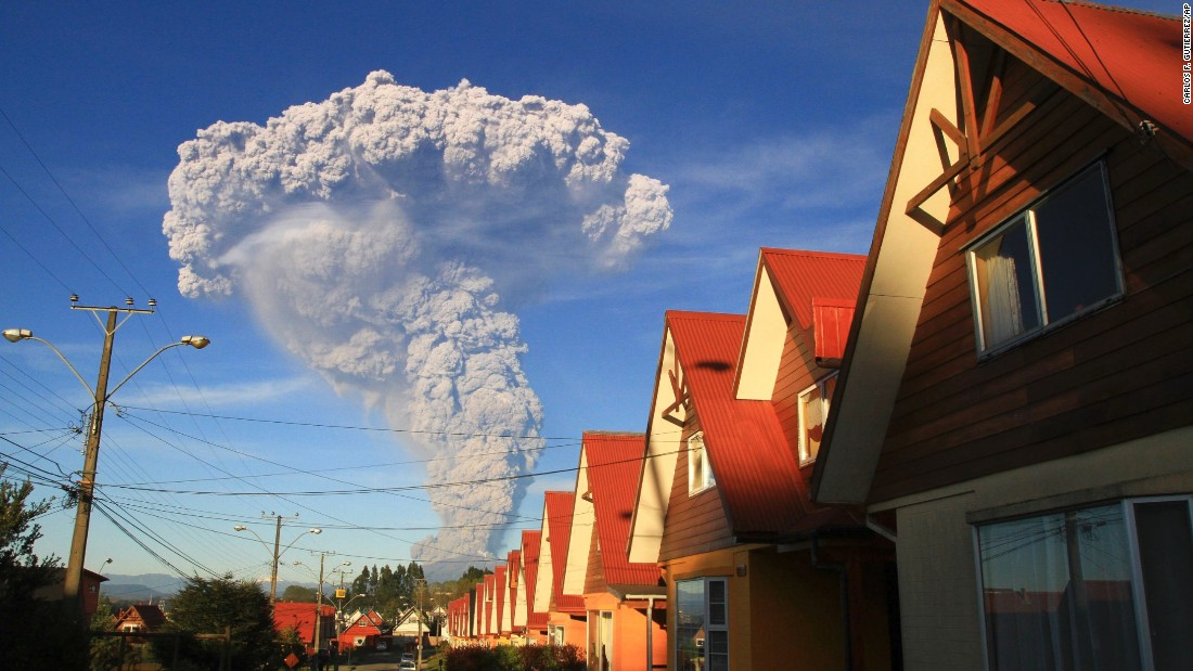 The Calbuco volcano erupts near Puerto Varas, Chile, in April 2015.