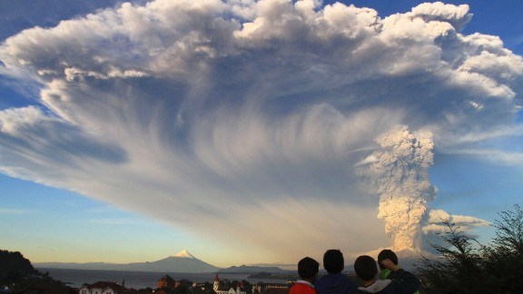 Chile's Calbuco Volcano erupted Wednesday, April 22, sending a huge ash cloud over a sparsely populated, mountainous area in southern Chile. Military and police forces helped evacuate more than 4,400 residents then, the Interior Ministry said.