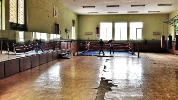 The last man to defeat Floyd Mayweather in the boxing ring can be found in this gym in the small Bulgarian town of Pazardzhik.