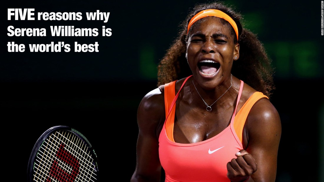 In recent years, Serena Williams has been the undisputed force in women's tennis. The American has won an incredible 19 grand slam titles and is looking to triumph at the French Open for a third time. But what is it that sets Serena apart from her rivals?<br />Ahead of this year's French Open in Paris, CNN sat down with Patrick Mouratoglou -- who began coaching Williams in 2012. Their trophy tally since teaming up includes a Wimbledon title, an Olympic gold medal, three U.S. Open titles, a Roland Garros title and an Australian crown, lifting her back up to the pinnacle of the women's game<br />Mouratoglou outlines the five main reasons for her dominance of the game.