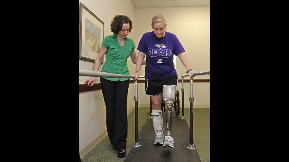 """Erika Brannock was the last bomb survivor to leave the hospital. She came to the marathon from her home in suburban Maryland to cheer her mother on and was excited about being able to get so close to the finish line. Her sister, Nicole Gross, testified that she recalled pushing Brannock through the crowd so they could get closer. """"I said,"""