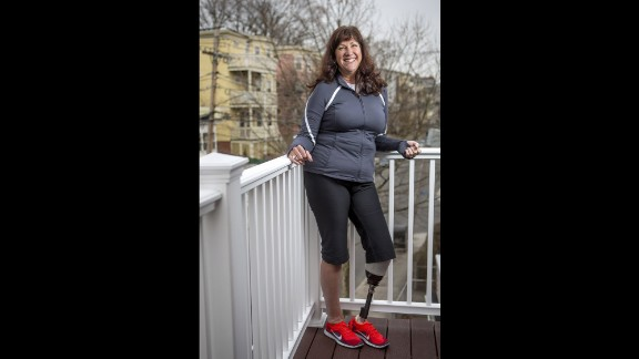"Karen Rand McWatters lost a leg -- and one of her best friends. She and Krystle Campbell spent the day laughing and posting selfies on Facebook before heading to the finish line. She was knocked to the ground by the first blast, and heard the second before she could understand what was happening. Her foot was turned in the wrong direction, but she dragged herself toward Campbell. She couldn't see how badly hurt her friend was. ""I got close to her head, and we put our faces together. She very slowly said her legs hurt, and we held hands and very shortly after her hand went limp and we never spoke again."""