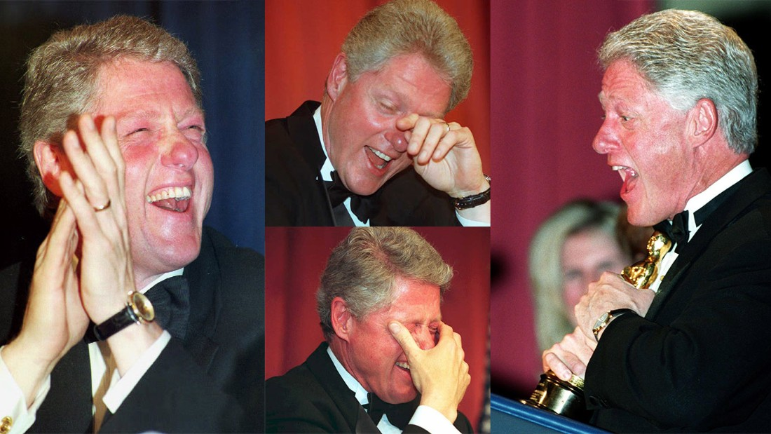 "At a monumental farewell speech at the dinner in 2000, it was time for President Bill Clinton to put on a show himself that many would remember. ""Now, I know lately I haven't done a very good job at creating controversy, and I'm sorry for that. You all have so much less to report,"" Clinton said. He then proceeded to show a short film of how he was coming to terms with leaving the White House: solemnly wandering around the White House alone, making origami paper designs, trimming the hedges of the White House lawn and with everyone gone, including Hillary, taking calls and messages intended for his staff."