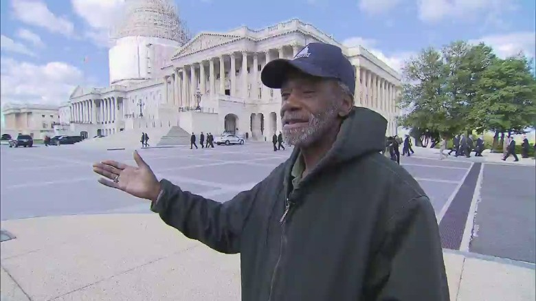 Meet the homeless man who works in the Capitol