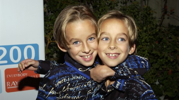 "Sawyer Sweeten, left, grew up before millions as a child star on the family sitcom ""Everybody Loves Raymond."" Early on April 23, he committed suicide, his sister Madylin Sweeten said in a statement. He was 19. Sawyer was a year and a half old when he started on ""Raymond,"" playing alongside his real-life twin brother, Sullivan, at right."