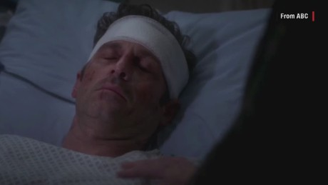 "Derek Shepherd's last episode of ""Grey's Anatomy."""