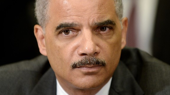 Then-U.S. Attorney General Eric Holder in May 2014