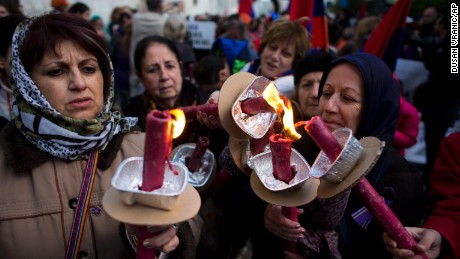 Jerusalem's Armenians commemorate 100th anniversary of massacre
