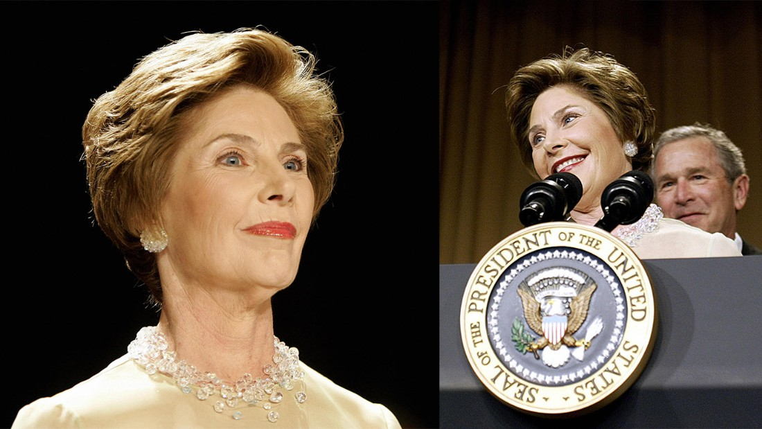 "The usually reserved first lady Laura Bush surprised everyone in 2005 when she took the podium and showed Americans a different side of herself and began to skewer her husband. ""I am married to the President of the United States, and here's our typical evening: Nine o'clock, Mr. Excitement here is sound asleep, and I'm watching 'Desperate Housewives' — with Lynne Cheney,"" Bush said. ""Ladies and gentlemen, I am a desperate housewife. I mean, if those women on that show think they're desperate, they ought to be with George."""