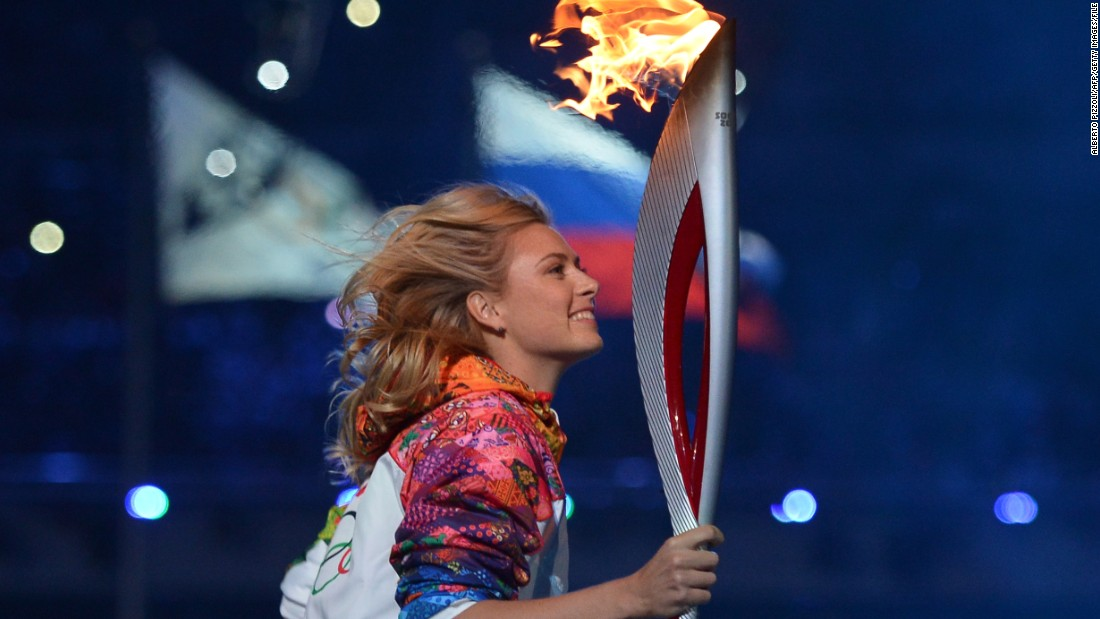 Recognized the world over, the grand slam champion and Olympic silver medalist was selected to run with the Olympic torch at the opening ceremony of the 2014 Winter Games in her former hometown of Sochi.