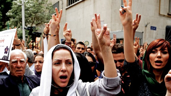 Iranian Armenians demonstrate outside the Turkish embassy in Tehran to mark the 100th anniversary of the mass killings of Armenians under the Ottoman Empire in 1915.
