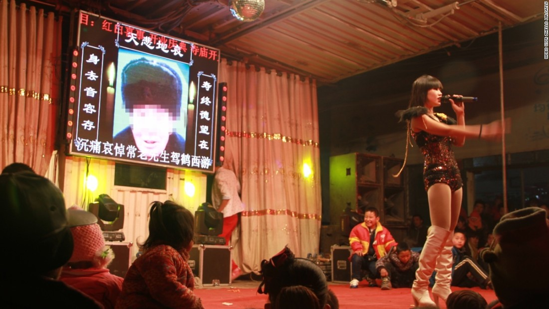 In rural China, hiring exotic dancers to perform at wakes is an increasingly common practice, but is now the latest focus of the country's crackdown on vice.