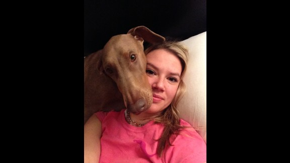 """Mocha is very special to her owners. """"She' s like an 80-pound big baby,"""" Michele Parkinson said."""