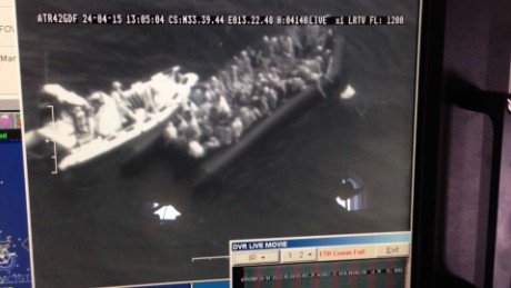 Italian Navy finds wreckage of sunk migrant boat where hundreds perished