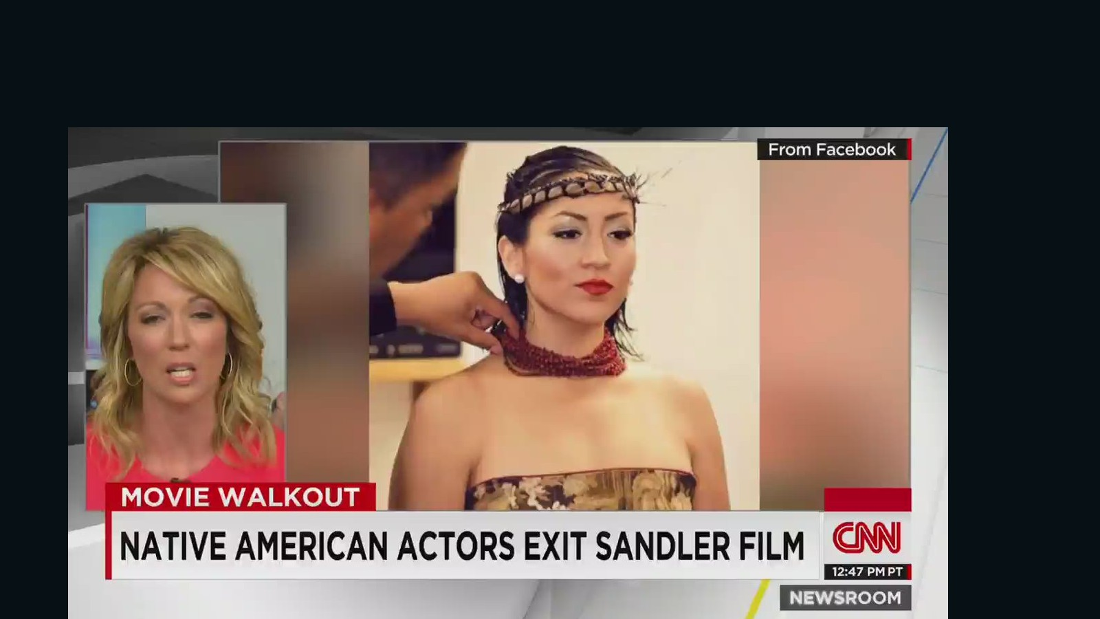 Native American Actors Walk Off Adam Sandler Movie Set Cnn Video