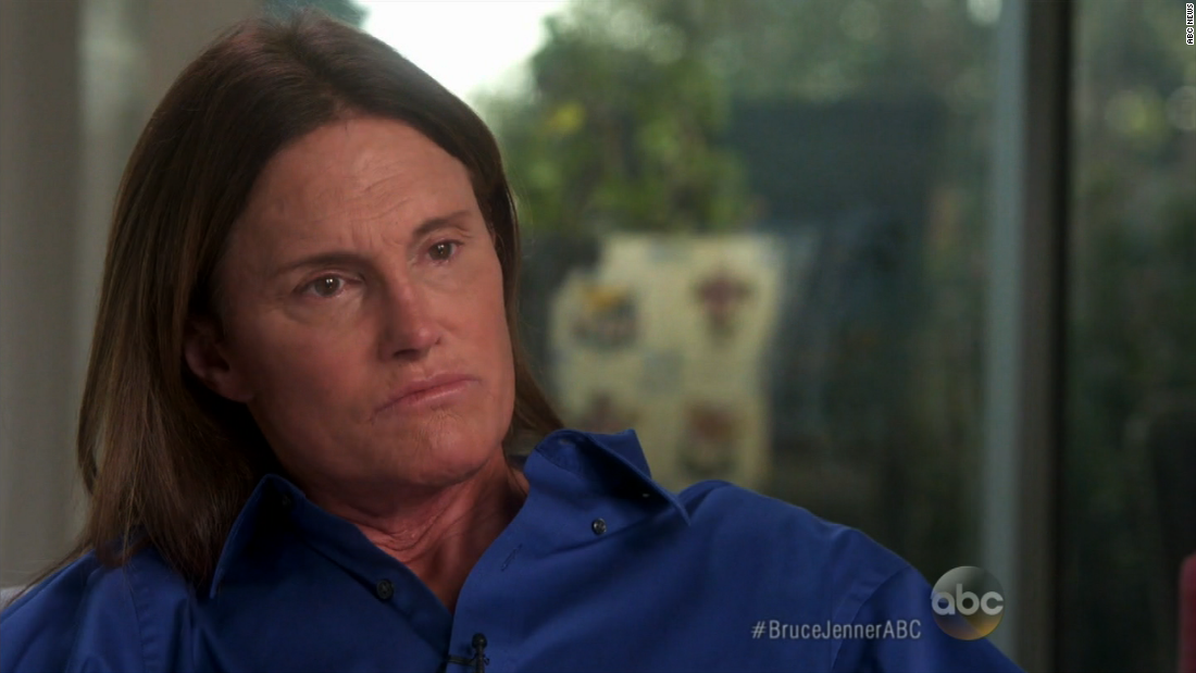 "Olympic gold medalist and reality TV star Bruce Jenner told ABC's Diane Sawyer, ""Yes, for all intents and purposes, I'm a woman,"" during an interview that aired April 24. She has now made a highly publicized transition from male to female as Caitlyn Jenner."