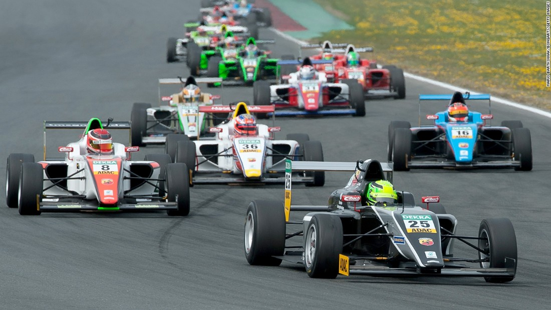 The 16-year-old finished ninth as he made his car-racing debut at Motorsport Arena Oschersleben on April 25.