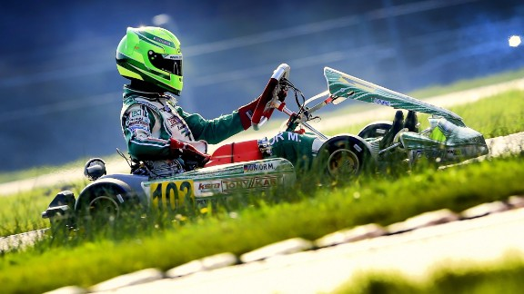 Schumacher previously competed in kart racing, as he father did many years before him.
