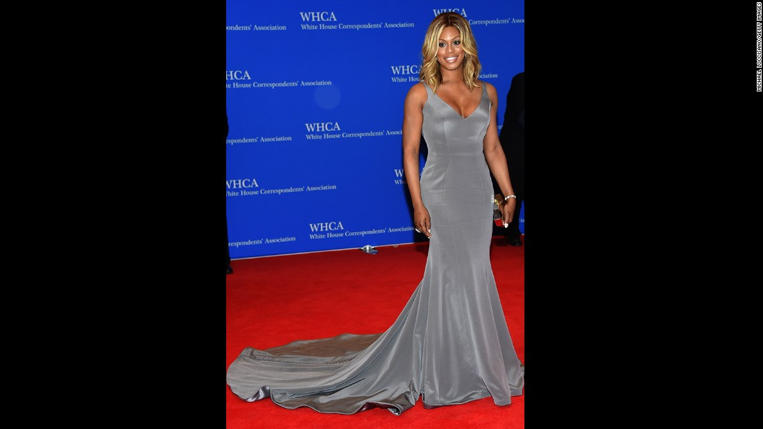 Laverne Cox attends the 101st Annual White House Correspondents' Association Dinner at the Washington Hilton on April 25, 2015 in Washington, D.C.