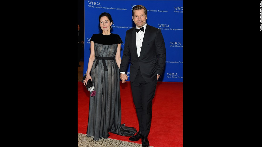 Nukaaka Coster-Waldau and Nikolaj Coster-Waldau attend the 101st Annual White House Correspondents' Association Dinner at the Washington Hilton on April 25, 2015 in Washington, D.C.