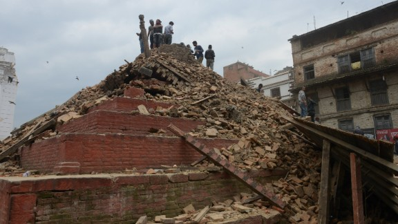 Caption:People gather in Kathmandu