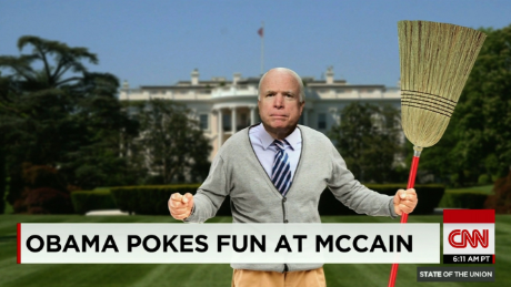 Obama Pokes Fun at McCain WHCD 2015