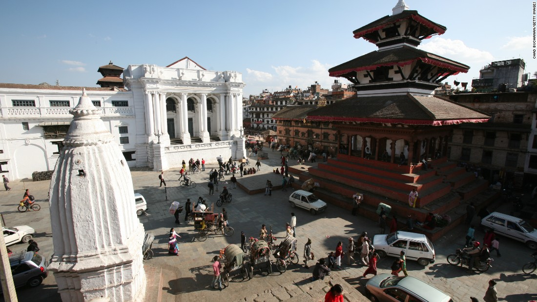 Basantapur Durbar Square in Kathmandu as seen in November 2008.
