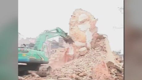 One of Nepal's iconic landmarks falls to the quake