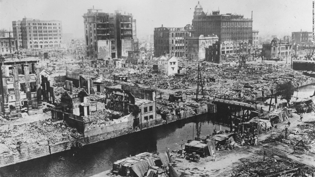 A 7.9 earthquake in the Tokyo-Yokohama area of Japan killed 142,800. The quake, which took place on September 1, 1923, caused firestorms and generated a tsunami.