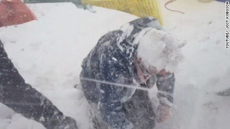 Everest avalanche caught on camera hitting climbers