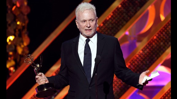 """Anthony Geary of """"General Hospital"""" accepts the award for outstanding lead actor in a drama series."""