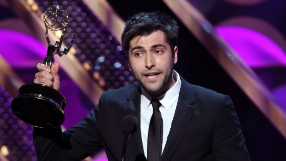 """Freddie Smith of """"Days of Our Lives"""" accepts the outstanding younger actor in a drama series award."""