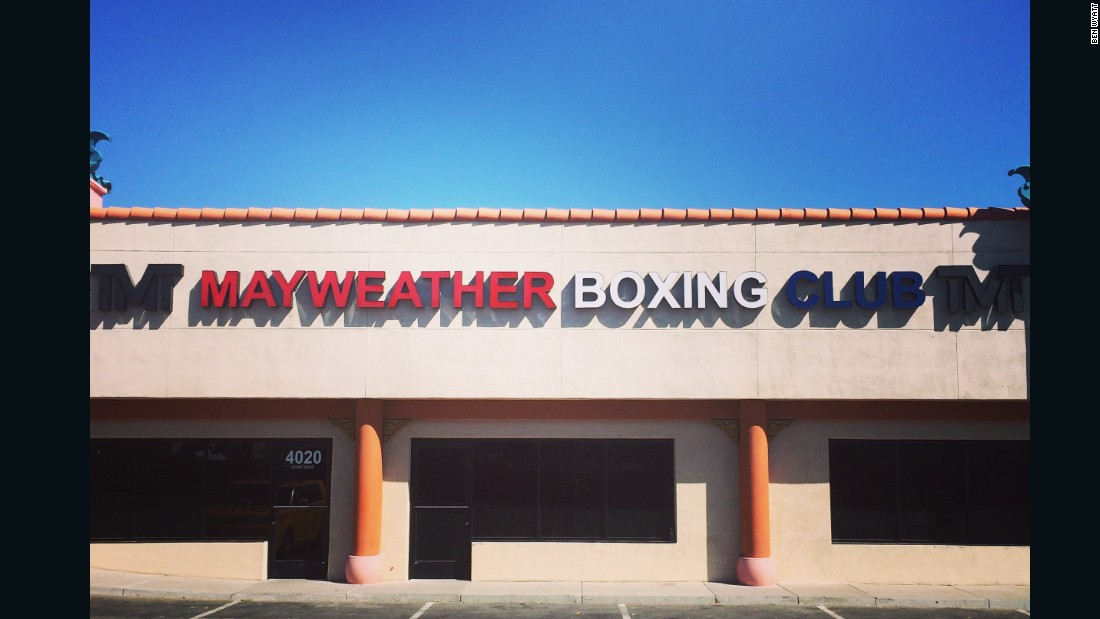"Floyd Mayweather Jr.'s boxing gym in Las Vegas, Nevada -- home to the ""Money Team"" stable of fighters."