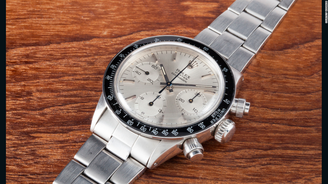 "This Rolex 6263 Daytona ""Albino"", one of only three in the world, is one of the top lots at an upcoming Phillips auction in Geneva, on May 10."