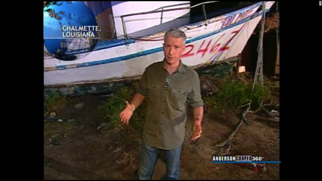 "Anderson Cooper reports on the arrival of the 2006 hurricane season. Cooper joined CNN late in 2001, and his show ""Anderson Cooper 360˚"" launched in 2003."