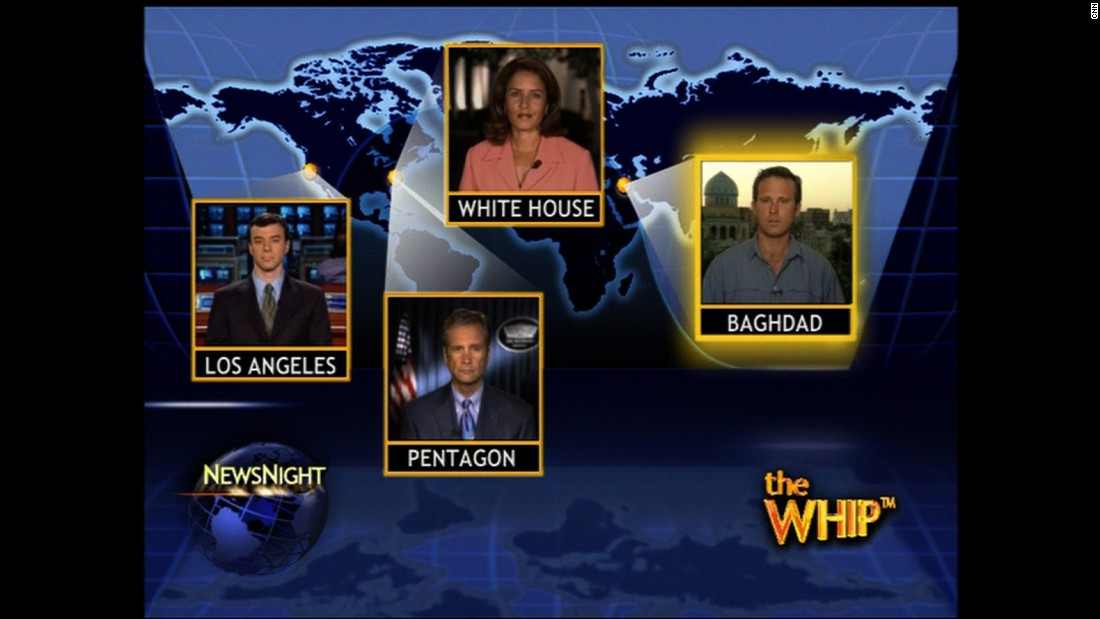 "This 2004 episode of ""NewsNight"" included reports from Harris Whitbeck in Baghdad, Iraq, Suzanne Malveaux at the White House, Jamie McIntyre at the Pentagon and Miguel Marquez in Los Angeles. The big headline was the election of a new Iraqi government."