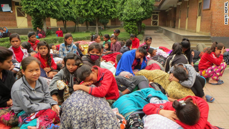 Children on the grounds of Maiti Nepal in Kathmandu.  The organization is led by 2010 CNN Hero of the Year Anuradha Koirala.