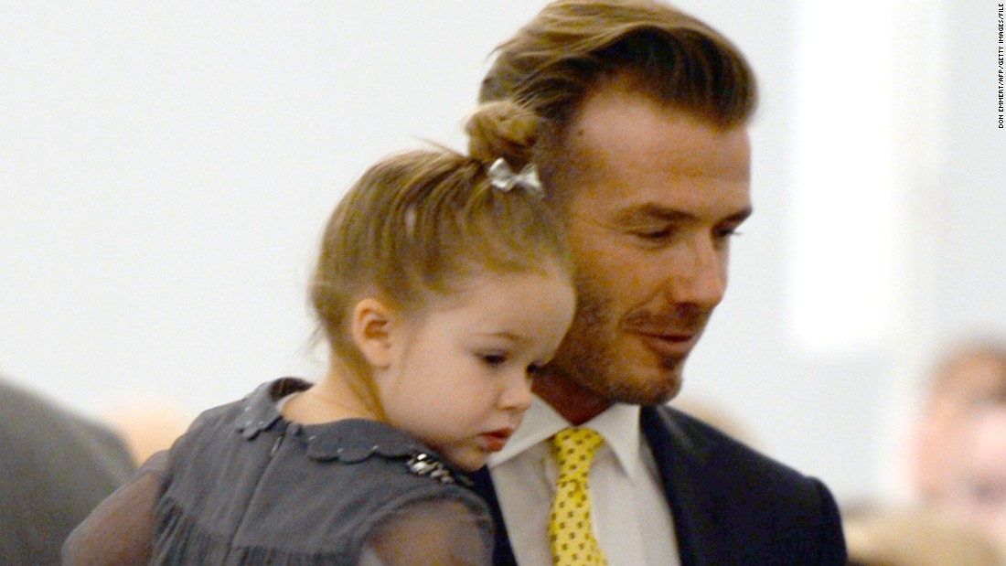 Daughter Harper, born in 2011, attended a presentation of her mom's work at the New York Fashion Week Fall/Winter shows in February 2014.