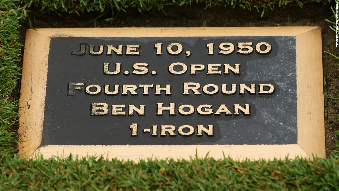 There is a plaque in the middle of the 18th fairway at Merion in Pennsylvania to mark the spot where Hogan hit his famous one iron.