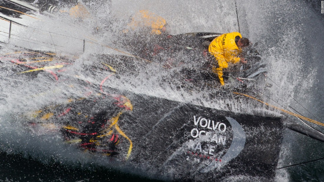 Ian Roman's photo was taken during leg nine of 2012's Volvo Ocean Race.