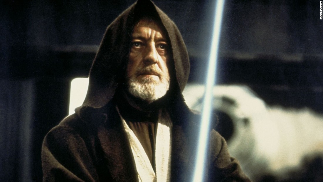 "Obi-Wan Kenobi, played by Alec Guinness in ""Star Wars,"" was the noble warrior who helped guide young Luke Skywalker."