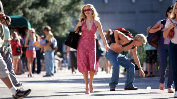 """A ditzy sorority gal becomes an unlikely law student in the highly quotable 2001 movie """"Legally Blonde."""""""