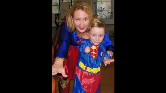 Cynthia Falardeau has encouraged her son, Wyatt, to seek out superhero role models like Superman. Falardeau says these heroes helped give her confidence while growing up.