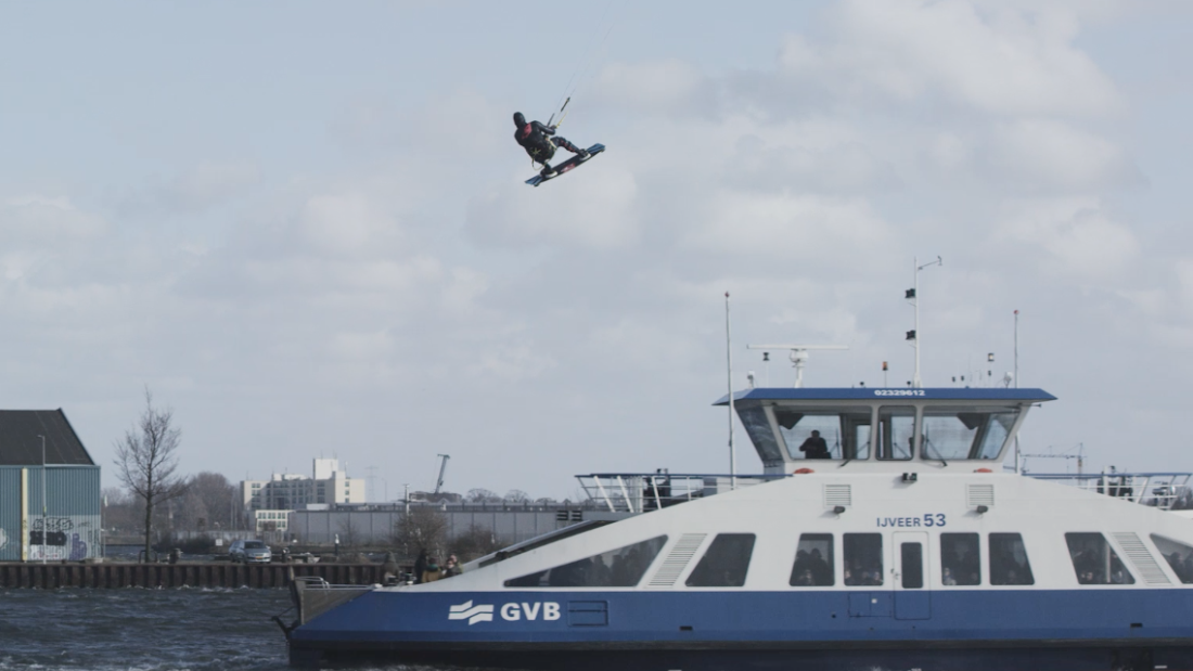 Despite shots appearing to show him flying over ferries, Langeree insisted that the stunt had been a safe one.