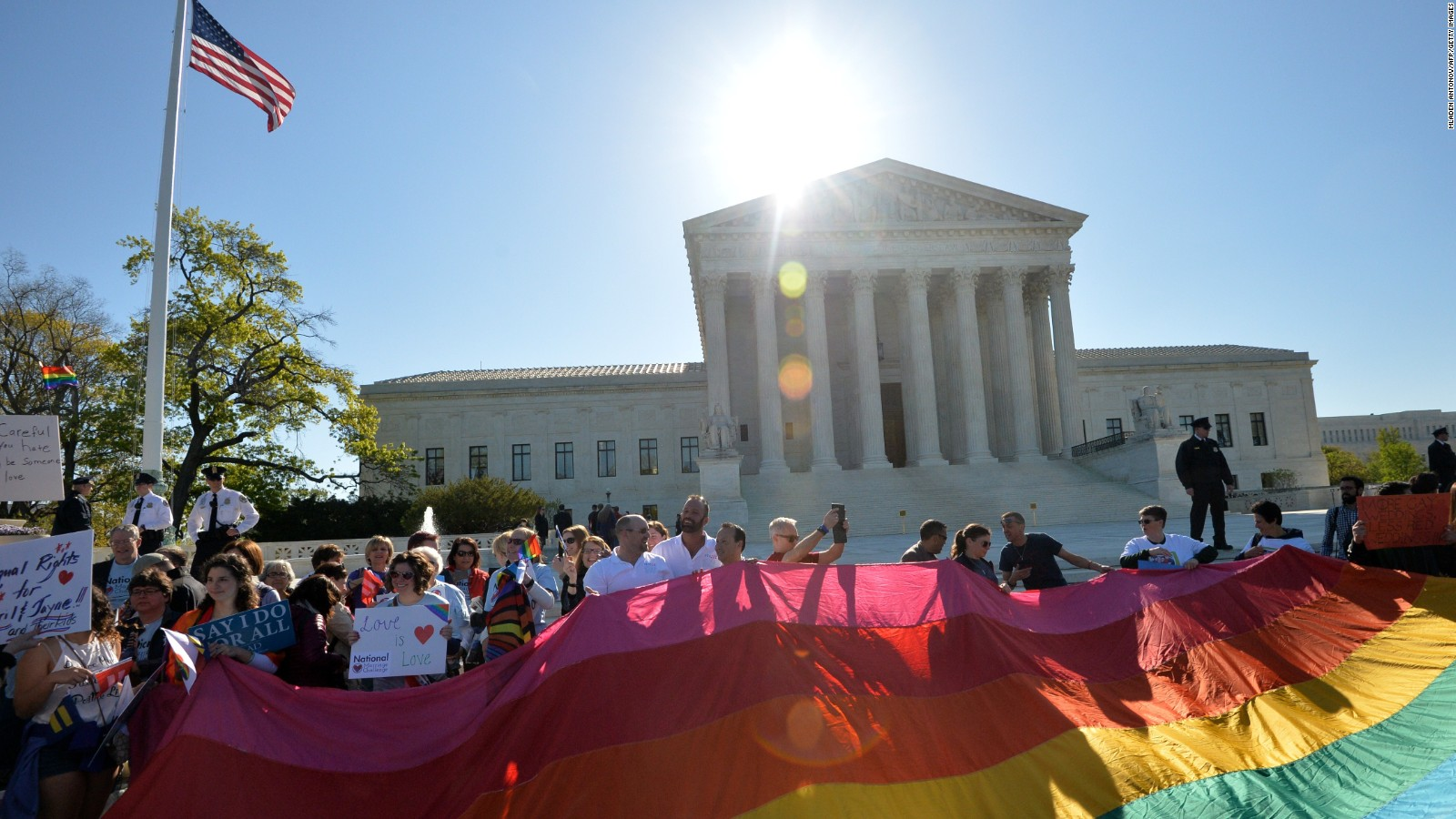 Supreme court hearing on same sex marriage