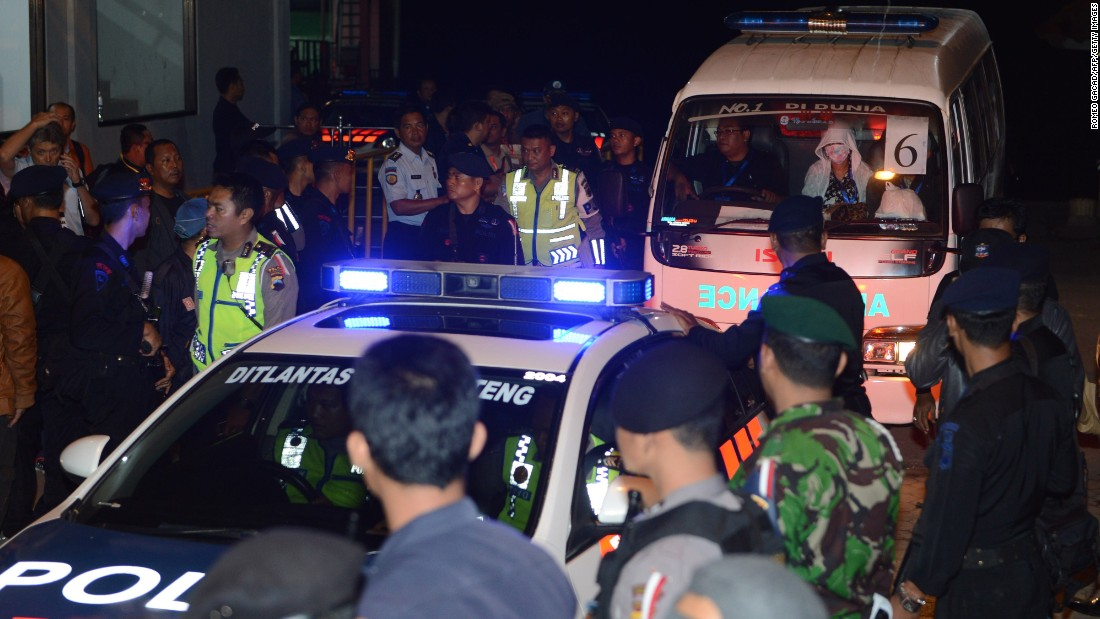 "A police car escorts an ambulance carrying the coffin bearing the body of one of the eight executed drug convicts as it arrives in Nusakambangan port in Cilacap after the executions at Nusakambangan maximum security prison island on Wednesday, April 29. <a href=""http://edition.cnn.com/2015/04/28/asia/indonesia-firing-squad-executions/"" target=""_blank""> Indonesia  executed eight convicted drug smugglers -- including two of the so-called ""Bali Nine"" -- the Reuters news agency reported, citing local media</a>, despite a firestorm of international criticism and last-ditch pleas by the condemned prisoners' families."