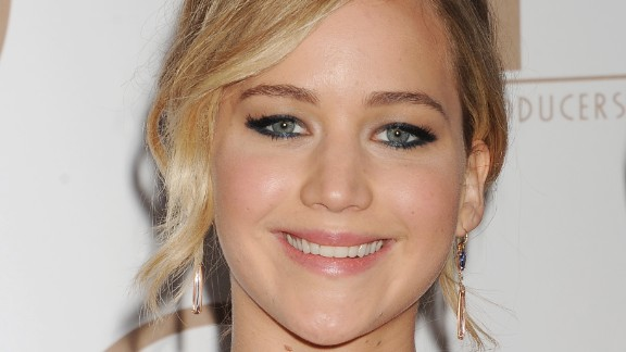 """Oscar-winning actress Jennifer Lawrence, known for her humor and """"Hunger Games"""" role, came in third place."""