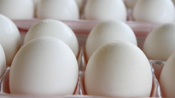 Allergic reactions include hives, rashes, itching, vomiting and swelling, according to the Food and Drug Administration. Eggs (pictured) along with peanuts and milk are among the three most common allergens.