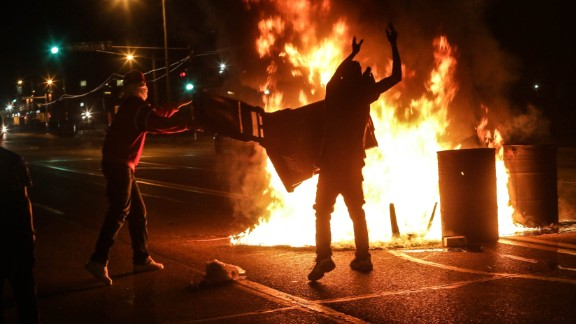 Lawrence Bryant with the St. Louis American took this photo of demonstrators in Ferguson, Missouri.